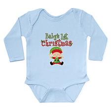 1st Christmas Baby Elf Long Sleeve Infant Bodysuit