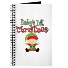 1st Christmas Baby Elf Journal