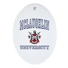 MCLAUGHLIN University Oval Ornament
