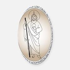 St Jude Oval Car Magnet