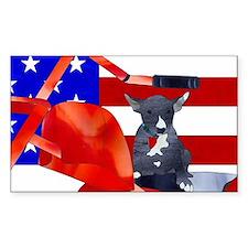 Patriotic Puppy Decal