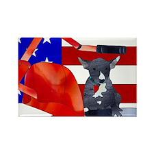 Patriotic Puppy Rectangle Magnet