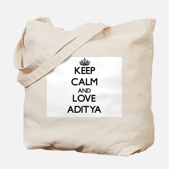 Keep Calm and Love Aditya Tote Bag