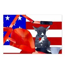 Patriotic Puppy Postcards (Package of 8)