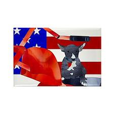 Patriotic Puppy Magnets
