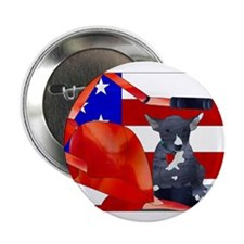 """Patriotic Puppy 2.25"""" Button (10 pack)"""