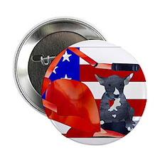 """Patriotic Puppy 2.25"""" Button"""
