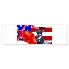 Patriotic Puppy Bumper Bumper Sticker
