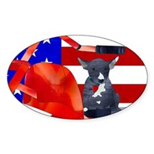 Patriotic Puppy Decal