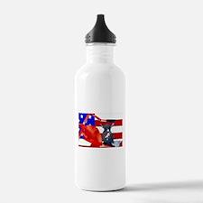Patriotic Puppy Water Bottle