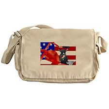 Patriotic Puppy Messenger Bag