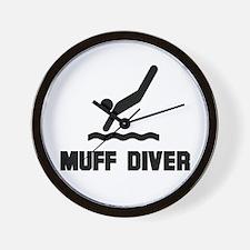 Muff Diver 1 Wall Clock