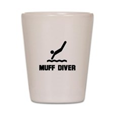 Muff Diver 1 Shot Glass
