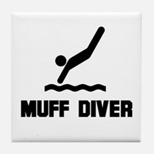 Muff Diver 1 Tile Coaster