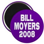 Bill Moyers 2008 Purple Magnet