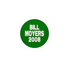 Bill Moyers Green Mini Button