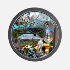 florence13a-10x10 Wall Clock