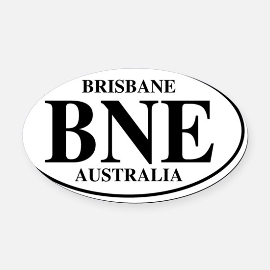 BNEBrisbane Oval Car Magnet