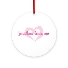 """jonathan loves me"" Ornament (Round)"