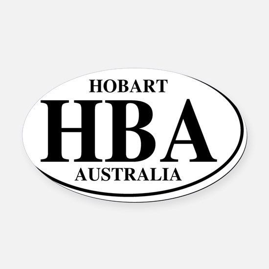 HBAHobart Oval Car Magnet