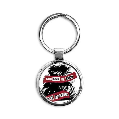 God Save The Skein Round Keychain