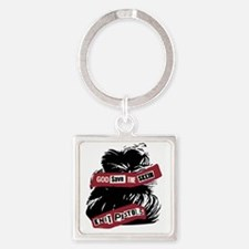 God Save The Skein Square Keychain