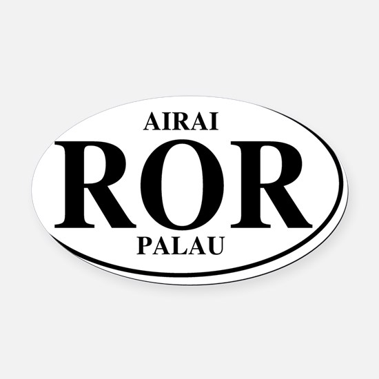RORAirai Oval Car Magnet