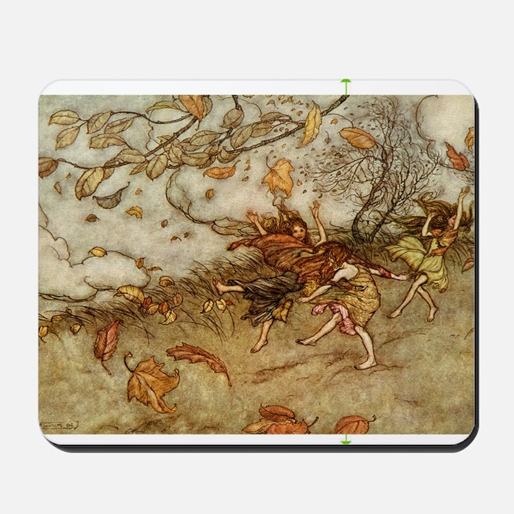 Joy of a Falling Leaf Mousepad