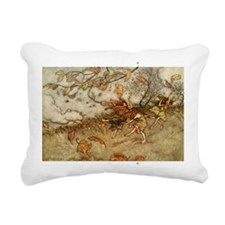 Joy of a Falling Leaf Rectangular Canvas Pillow