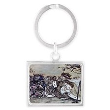 Off with Her Head Landscape Keychain