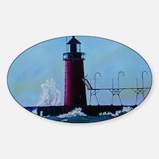 South Haven Lighthouse Sticker (Oval)
