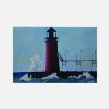 South Haven Lighthouse Rectangle Magnet