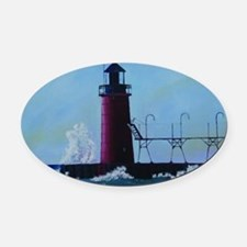 South Haven Lighthouse Oval Car Magnet