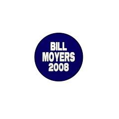 Bill Moyers 2008 Blue Mini Button