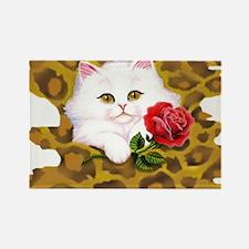 Phreak leopard kitten Rectangle Magnet
