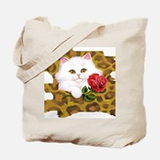 Phreak leopard kitten Tote Bag