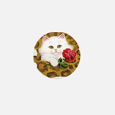 Phreak leopard kitten Mini Button