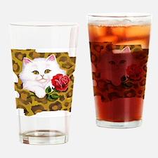 Phreak leopard kitten Drinking Glass