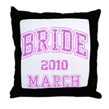 BRIDE2010MARCH Throw Pillow