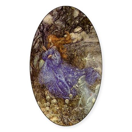 Fairy - Arthur Rackham Sticker (Oval)