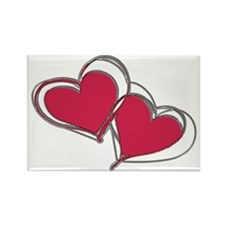 TWO HEARTS AS ONE Rectangle Magnet