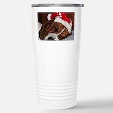 Christmas Basset Stainless Steel Travel Mug