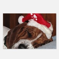 Christmas Basset Postcards (Package of 8)
