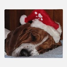 Christmas Basset Throw Blanket