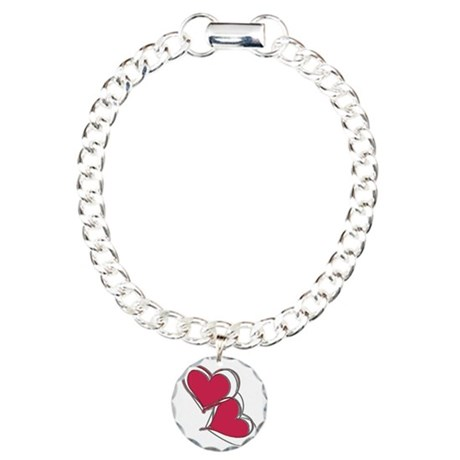 2-TWO HEARTS AS ONE Charm Bracelet, One Charm
