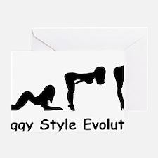 doggy evolution Greeting Card