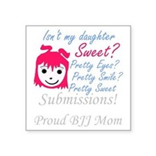 "2-final-girl.gif Square Sticker 3"" x 3"""