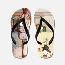 Alice in Wonderland005 SQ Flip Flops
