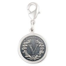 1913_liberty_nickel_rev Silver Round Charm