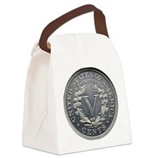 1913_liberty_nickel_rev Canvas Lunch Bag